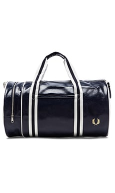 Fred Perry Classic Barrel Bag in Navy