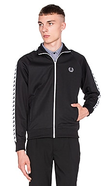 Fred Perry Tricot Track Jacket in Black
