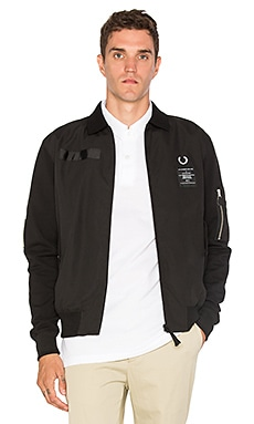 x Art Comes First Contrast Sleeve Harrington Jacket