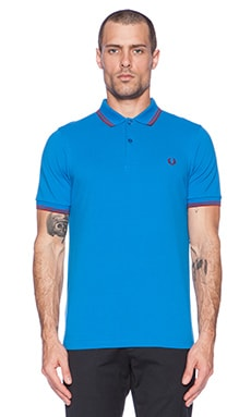 Fred Perry Twin Tipped Polo in Imperial Deep Red