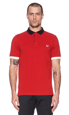 Fred Perry Colour Pop Pique Shirt in Wallace Red