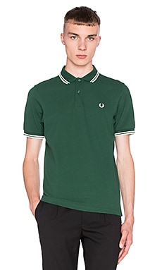 Fred Perry Slim Fit Twin Tipped Polo en Ivy Ecru