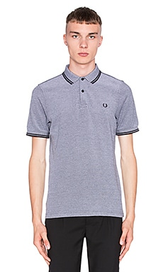 Fred Perry Slim Fit Twin Tipped Polo en Noir Oxford Noir
