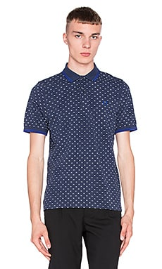Fred Perry Twin Tipped Print Shirt in Dark Carbon