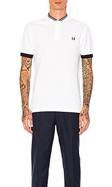 Bomber Collar Pique Shirt