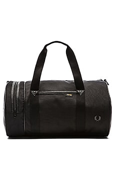 Fred Perry Nylon Barrel Bag in Black