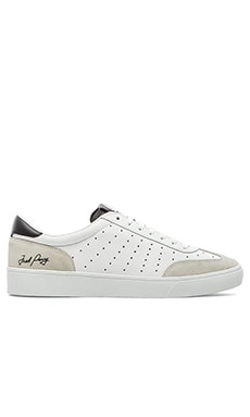 Fred Perry Umpire Leather en Blanc & Noir