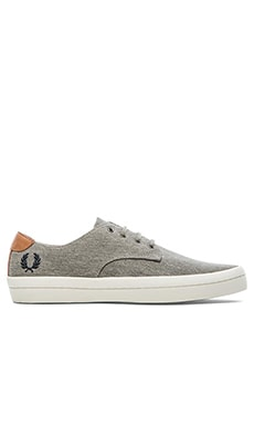 Fred Perry Savitt Printed Canvas in Mid Grey Navy