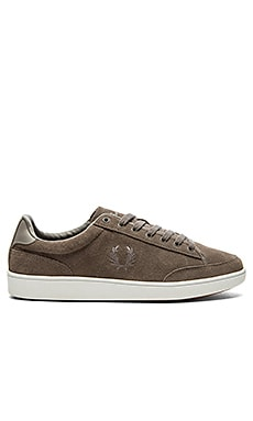 Fred Perry Hopman Suede in Mid Grey Cloudburst