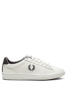 Fred Perry Hopman Leather in White Navy
