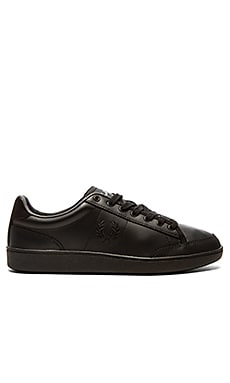 Fred Perry Hopman Leather in Black Black