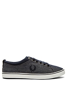 Fred Perry Hallam Winter Chambray in Navy