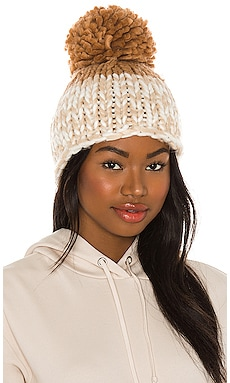 Cozy Up Color Block Pom Beanie Free People $48