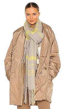 Prep Brushed Plaid Blanket Scarf Free People $48 NEW