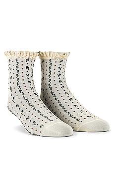 Rosebud Waffle Knit Sock Free People $12 NEW