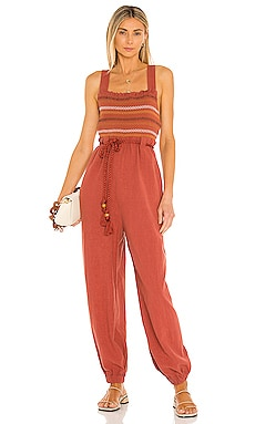 Sienna Smocked Jumpsuit Free People $168