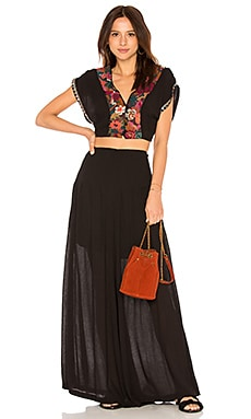 Купить Комплект santoshi - Free People, Короткий рукав, Индия, Черный