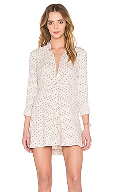 Free People This Town Buttondown Dress in Cream Combo