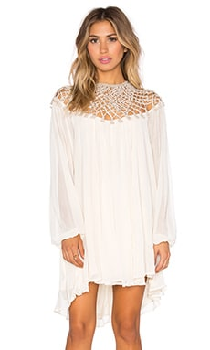 Macrame Dress in Almond