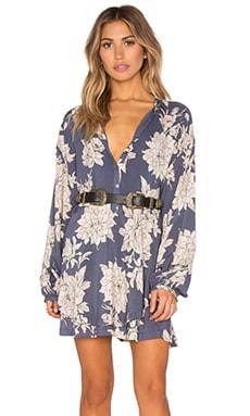 Free People Shake It Dress in Marine Combo