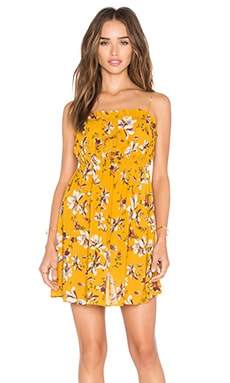 Free People Jolene Mini Slip in Yellow Combo