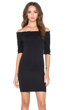 Free People Risa Off Shoulder Slip in Black