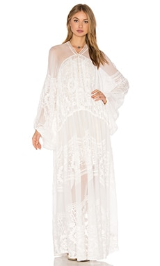 Free People Bohemian Winds Dress in Ivory