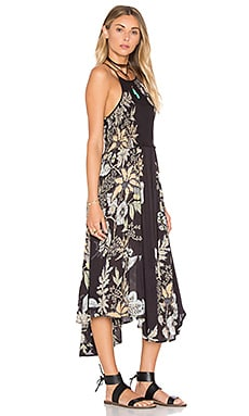 Free People Seasons in the Sun Dress in Black Combo