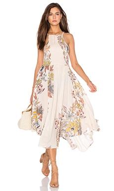 Free People Season in the Sun Dress in Ivory Combo
