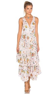 Free People Catching Glances Dress in Ivory Combo