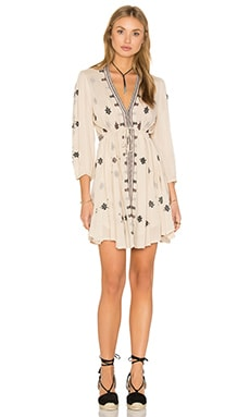 Free People Star Gazzer Dress in Neutral Combo