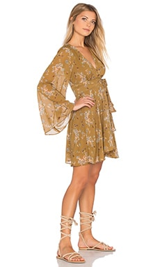 Free People Lilou Dress in Toffee Combo