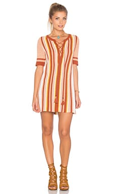 Free People Lollipop Sweater Dress in Sunset Combo