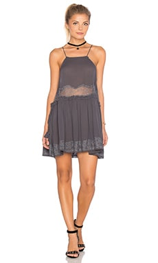 Free People Two for Tea Dress in Charcoal