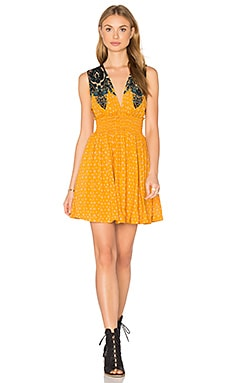Free People Walking Through My Dreams Dress in Orange Combo