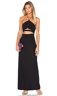 Free People Opium Maxi Dress in Black