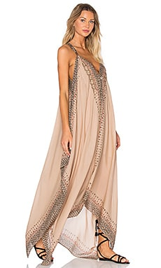 Free People Merida Printed Maxi Dress in Ivory Combo