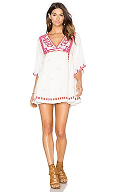Free People Tulum Mini Dress in Ivory Combo