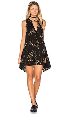 Free People Snap Out of It Swing Dress in Navy
