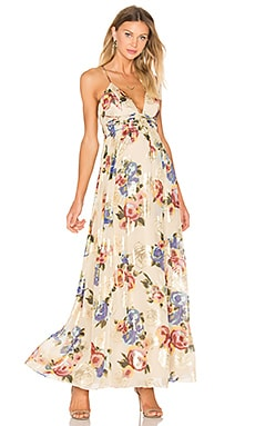 Free People Shadows Printed Dress in Ivory Combo
