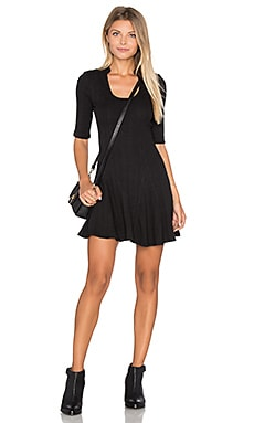 Jolene Rib Dress en Noir