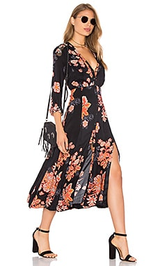 Free People Miranda Dress in Black Combo