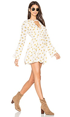 Tegan Printed Dress in Ivory Combo