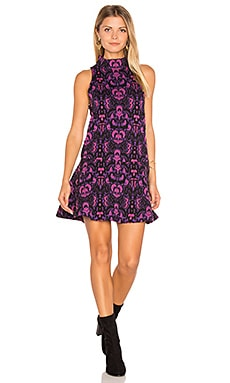 Amelia Knit Dress in Purple Combo