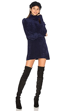 New Moon Chenille Tunic Sweater in Navy