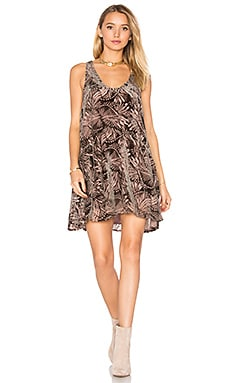 Ellie Burnout Velvet Dress in Pink Combo