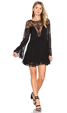 Panama City Mini Dress en Noir