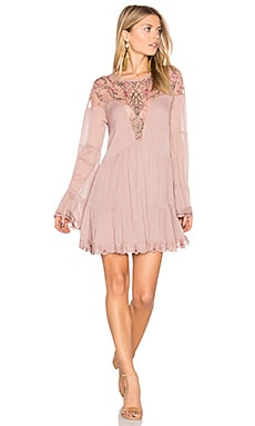 Panama City Mini Dress in Mauve