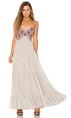 Lost in a Dream Maxi Dress in Silver