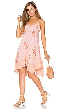 Faded Bloom Mini Dress in Pink Combo